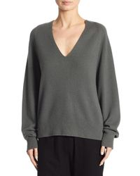 Vince - Gray Deep V-neck Raglan Cashmere Sweater - Lyst
