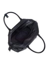 Giorgio Armani - Black Leather Weekender Bag for Men - Lyst