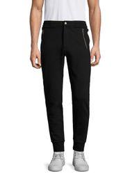 Michael Kors - Black Elasticized Jogger Pants for Men - Lyst