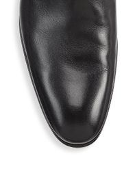 Saks Fifth Avenue - Black Collection Zip Leather Ankle Boots for Men - Lyst
