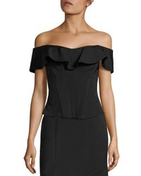 Rene Ruiz - Black Off-the-shoulder Bustier Top - Lyst