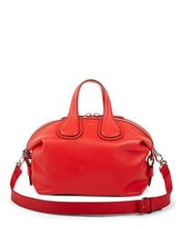 Givenchy | Red Nightingale Small Leather Satchel | Lyst