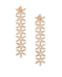 Adriana Orsini | Metallic Anise Rose Gold-plated Linear Drop Earrings | Lyst