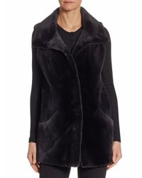 Saks Fifth Avenue - Women's Sheared Mink Vest - Stone Blue - Size Small - Lyst
