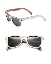 Shwood - White Canby Acetate, Slate and Wood Sunglasses for Men - Lyst