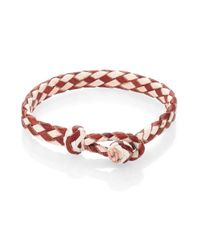 Chamula - Brown Woven Leather Bracelet - Lyst