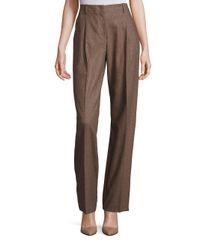 Lafayette 148 New York | Brown Rivington Finite Italian Flannel Wide-leg Pants | Lyst
