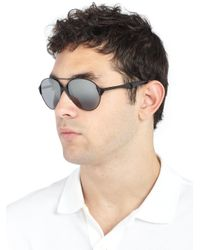 Givenchy - Gray 60mm Aviator Sunglasses for Men - Lyst