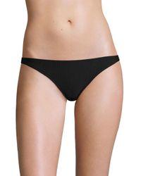 Made By Dawn - Black Hope Ribbed Bikini Bottom - Lyst