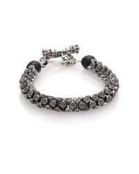 King Baby Studio - Metallic Sterling Silver Stingray Bracelet for Men - Lyst