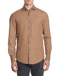 Brunello Cucinelli - Brown Slim-fit Button-down Shirt for Men - Lyst