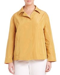 Lafayette 148 New York - Yellow Triboro Tech Cloth Tavi Jacket - Lyst