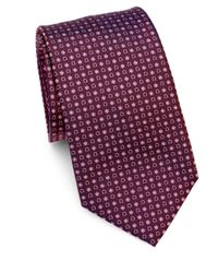 Ferragamo - Purple Gancini & Floral Print Silk Tie for Men - Lyst