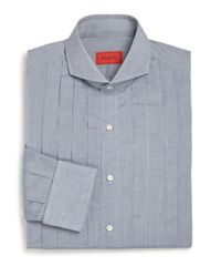 Isaia - Blue Slim-fit Riva Tuxedo Shirt for Men - Lyst