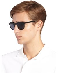 Barton Perreira - Black Rainey 52mm Square Sunglasses for Men - Lyst