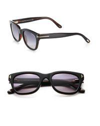 58926165799c Lyst - Tom Ford Snowdon 53mm Rectangular Sunglasses in Brown for Men