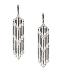 Adriana Orsini - Metallic Greta Grey Crystal Drop Earrings - Lyst