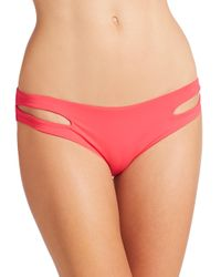 L*Space Red Estella Bikini Bottom