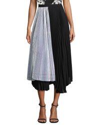 Delfi Collective - Black Eliza Irridescent Pleated Skirt - Lyst