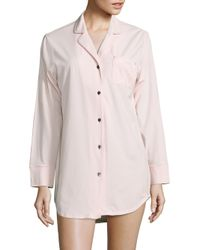 Naked - Pink Solid Sleep Shirt - Lyst