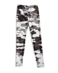 Terez - Gray Girl's Camouflage Leggings - Size Large (14) - Lyst