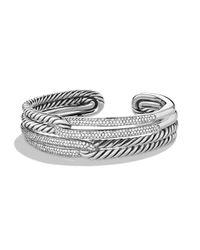 David Yurman | Metallic Labyrinth Double-loop Cuff With Diamonds | Lyst