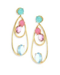 Ippolita - Metallic 18k Rock Candy Semi-precious Multi-stone Drop Dangle Earrings - Lyst