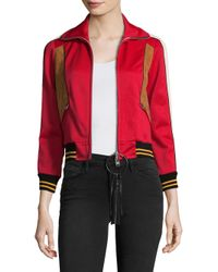 COACH - Red Colorblock Track Jacket - Lyst