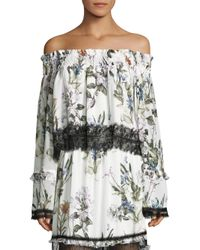 Nicholas - Multicolor Iris Floral Off Shoulder Blouse - Lyst