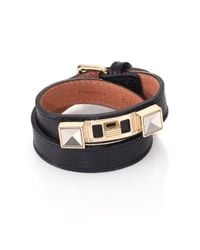 Proenza Schouler - Black Ps11 Linosa Leather Double-wrap Bracelet - Lyst
