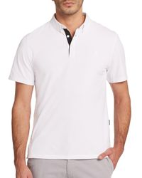 AG Green Label - White The Links Polo for Men - Lyst