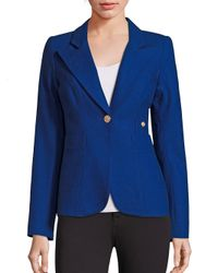 Smythe - Blue Duchess Wool Blend Blazer - Lyst