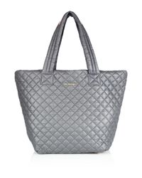 MZ Wallace - Metallic Metro Medium Quilted Nylon Tote - Lyst
