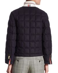 Thom Browne - Blue Cashmere Down Jacket - Lyst