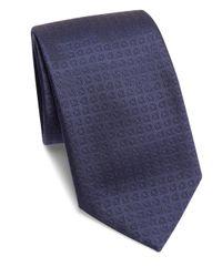 Ferragamo - Blue Gancini Silk Tie for Men - Lyst