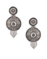 DANNIJO - Metallic Ahava Circle Earrings - Lyst