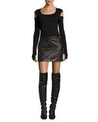 Helmut Lang   Black Slash Long Sleeve Cotton Slim Tee   Lyst
