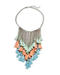 Saks Fifth Avenue - Metallic Tassel Bib Necklace - Lyst