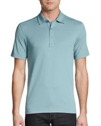 Saks Fifth Avenue | Blue Cotton Pique Polo Shirt for Men | Lyst