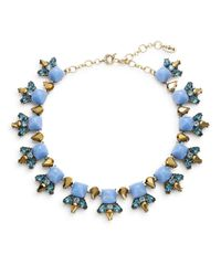 Cara | Blue Pyramid Cabochon Collar Necklace | Lyst