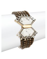 Saks Fifth Avenue | Metallic Multi-chain Fan-clasped Bracelet | Lyst