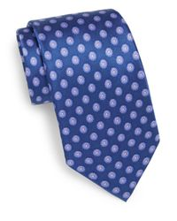 Valentino - Blue Dotted Silk Tie for Men - Lyst