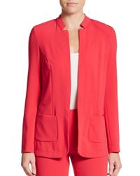 Les Copains - Red Notched-detailed Blazer - Lyst