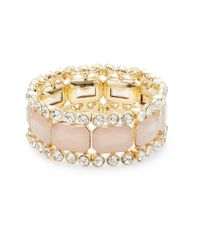 R.j. Graziano - Pink Slip-on Stretch Bracelet - Lyst