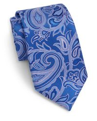 Saks Fifth Avenue - Blue Paisley Silk Tie for Men - Lyst