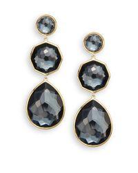Ippolita - Metallic Rock Candy Crazy 8's Hematite & 18k Yellow Gold Drop Earrings - Lyst