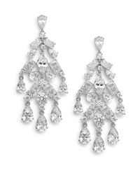 Adriana Orsini | Metallic Tiered Chandelier Earrings | Lyst
