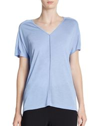 Vince | Blue Piped Drape Tee | Lyst