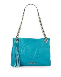 Valentino By Mario Valentino - Blue Luisa Quilted Leather Shoulder Bag - Lyst