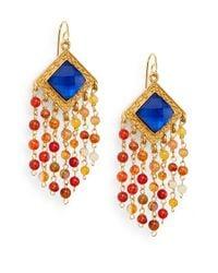 Stephanie Kantis - Multicolor Olympia London Blue Crystal & Carnelian Tassel Earrings - Lyst